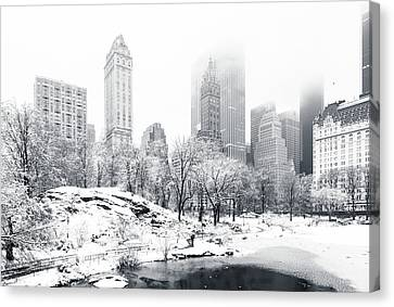 Canvas Print featuring the photograph Central Park by Mihai Andritoiu