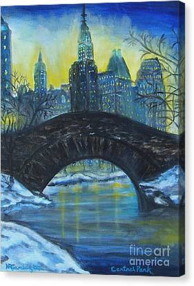 Central Park Canvas Print by Nancy Rucker