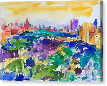Central Park New York Canvas Print by Peter Graham