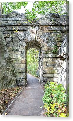 Central Park Ramble Archway Canvas Print by A New Focus Photography