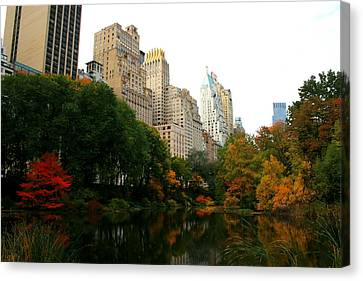 Central Park South Canvas Print by Christopher Kirby