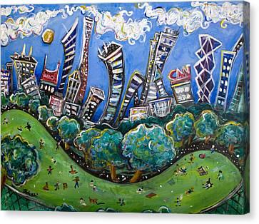 Central Park South Canvas Print by Jason Gluskin
