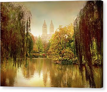 Canvas Print featuring the photograph Central Park Splendor by Jessica Jenney
