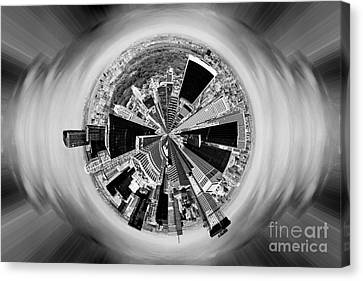 Central Park View Bw Canvas Print