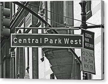 Central Park West Canvas Print by Sharla Gentile