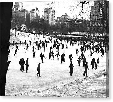 Central Park Winter Carnival Canvas Print by Underwood & Underwood