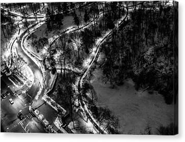 Canvas Print featuring the photograph Central Park Trails by M G Whittingham