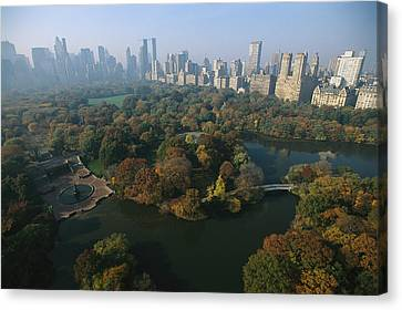 Central Parks Bethesda Fountain Canvas Print by Melissa Farlow