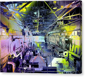 Canvas Print featuring the photograph Grunge Central Power Station by Robert G Kernodle