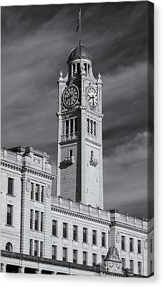 Central Station Clock Tower Canvas Print by Nicholas Blackwell