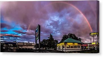Centralia Rainbow Canvas Print by Tony Porter Photography