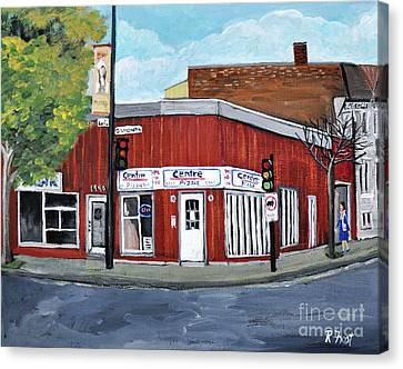Centre Pizza Verdun Canvas Print by Reb Frost