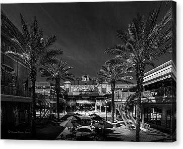 Canvas Print featuring the photograph Centro Ybor Bw by Marvin Spates