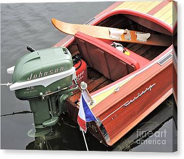Century Imperial Sportsman W/ Johnson 25hp Canvas Print by Neil Zimmerman