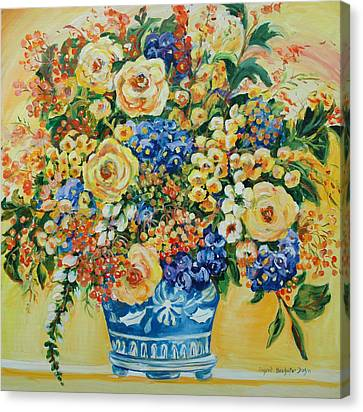 Ceramic Blue Canvas Print