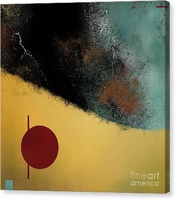 Canvas Print featuring the digital art Ceramic Pixels by Nola Lee Kelsey