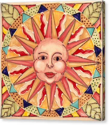 Ceramic Sun Canvas Print