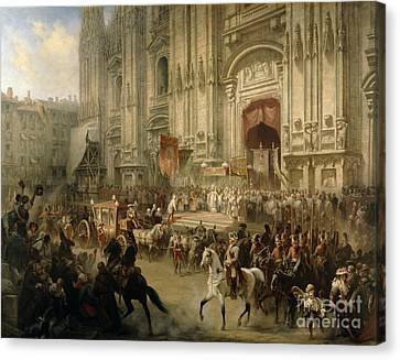 Ceremonial Reception Canvas Print by Adolf Jossifowitsch Charlemagne