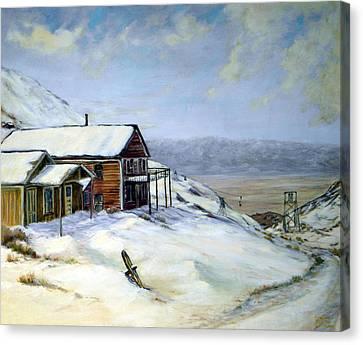 Cerro Gordo California Canvas Print by Evelyne Boynton Grierson