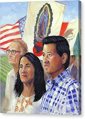 Cesar Chavez And La Causa Canvas Print by Steve Simon