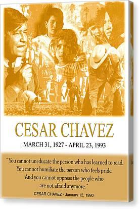 Cesar Chavez Poster Canvas Print by John Keaton