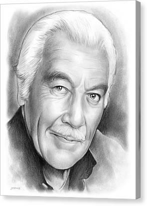 Cesar Romero Canvas Print by Greg Joens