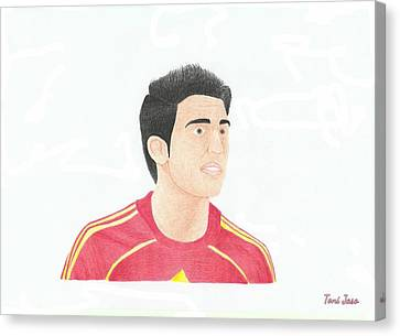 Cesc Fabregas Canvas Print by Toni Jaso