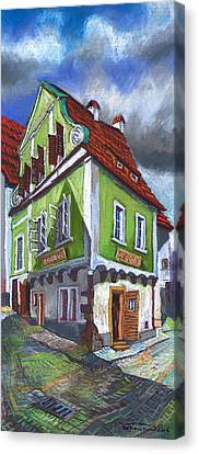 Architectur Canvas Print - Cesky Krumlov Old Street 3 by Yuriy Shevchuk