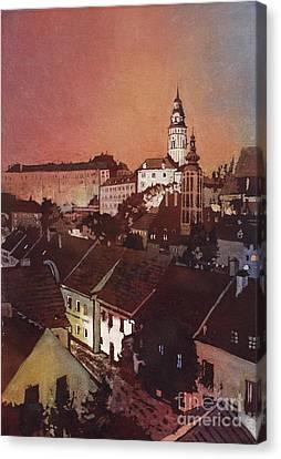 Cesky Krumlov Sunset Canvas Print by Ryan Fox
