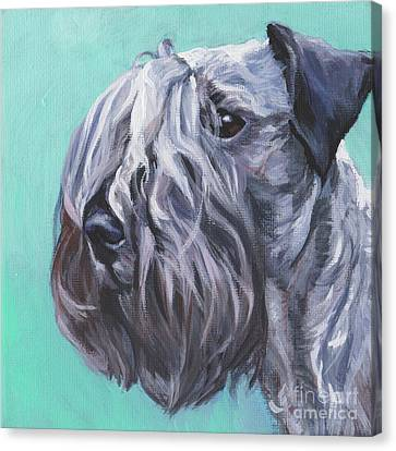Canvas Print featuring the painting Cesky Terrier by Lee Ann Shepard