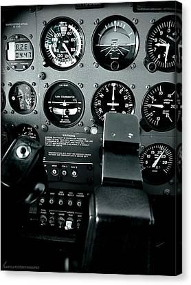 Cessna 172sp Cockpit Canvas Print by Lamyl Hammoudi