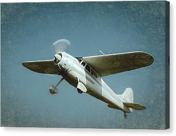 Canvas Print featuring the photograph Cessna 195 by James Barber