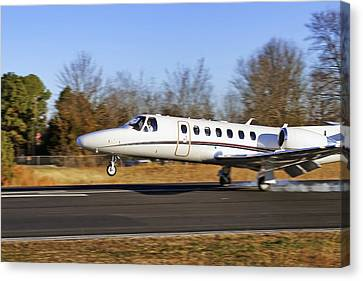 Cessna Citation Touchdown Canvas Print by Jason Politte