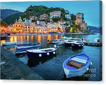 Cetara Harbor Canvas Print by Inge Johnsson