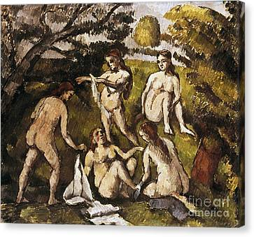 Cezanne: Five Bathers Canvas Print by Granger