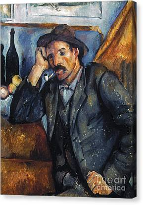 Cezanne: Pipe Smoker, 1900 Canvas Print by Granger
