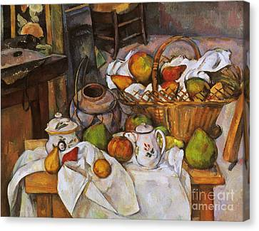 Cezanne: Table, 1888-90 Canvas Print by Granger