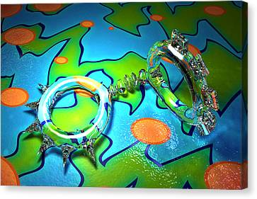 Cg Glass Zoo01 Canvas Print