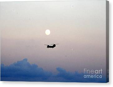 Ch-46 Sea Knight Helicopter Canvas Print by Celestial Images