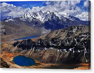 Canvas Print - Chacaltalya Climb To 17800 Feet 14 by Skip Hunt