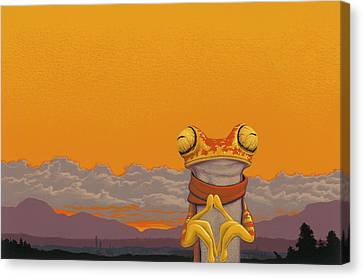Chachi Tree Frog Canvas Print by Jasper Oostland