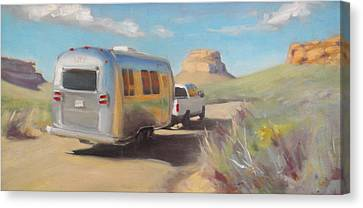 Chaco Canyon Glamping Canvas Print by Elizabeth Jose