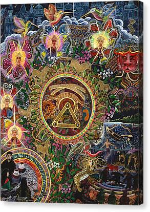 Ayahuasca Visions Canvas Print - Chacruna Versucum 2007 Version  by Pablo Amaringo