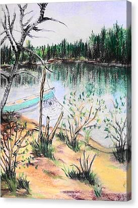 Chain Lakes Duck Mountain Mb Canvas Print by Janice Robertson