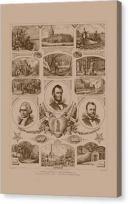 Chain Of Events In American History Canvas Print by War Is Hell Store