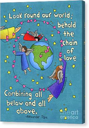 Chain Of Love Canvas Print by Sarah Batalka