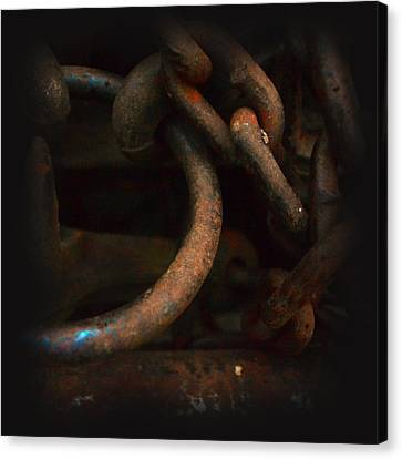 Plate 001- Chain - Metallica Series Canvas Print