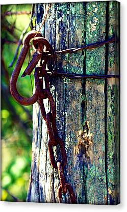 Chained Post Canvas Print