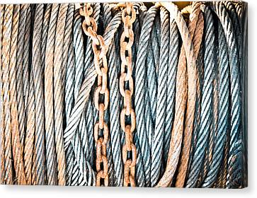 Braids Canvas Print - Chains And Cables by Tom Gowanlock