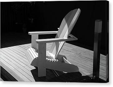 Chair In Black And White Canvas Print